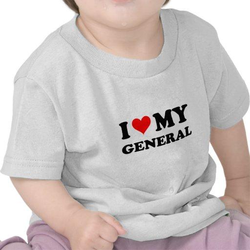 Amo a mi general camiseta