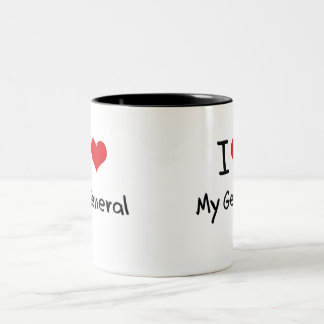 Amo a mi general tazas de café