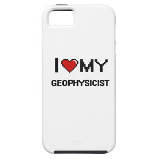 Amo a mi geofísico funda para iPhone 5 tough