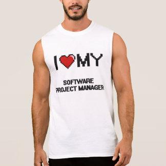 Amo a mi gestor de proyecto del software camisetas sin mangas