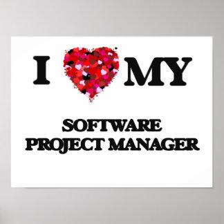 Amo a mi gestor de proyecto del software póster