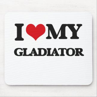 Amo a mi gladiador tapetes de ratones