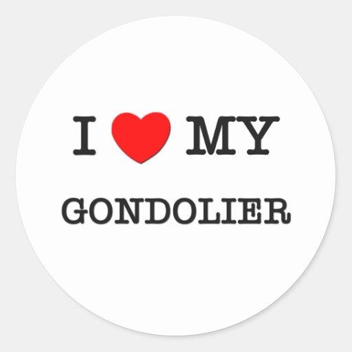 Amo a mi GONDOLERO Etiqueta Redonda