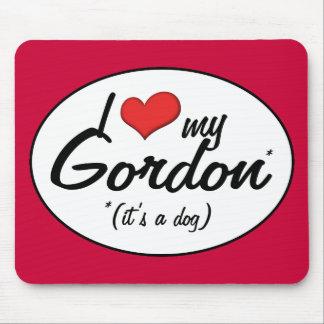 Amo a mi Gordon (es un perro) Mousepads