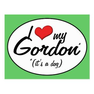 Amo a mi Gordon (es un perro) Postal