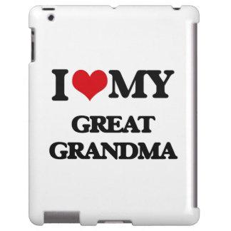 Amo a mi gran abuela funda para iPad