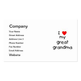 Amo a mi gran abuela tarjetas de visita