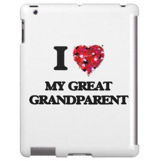 Amo a mi gran abuelo funda para iPad