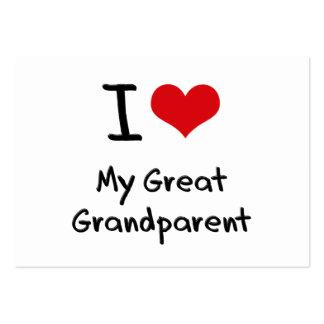 Amo a mi gran abuelo tarjeta de negocio