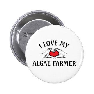 Amo a mi granjero de las algas pin redondo de 2 pulgadas