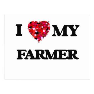 Amo a MI granjero Tarjetas Postales