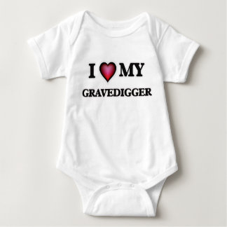 Amo a mi Gravedigger Body Para Bebé