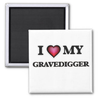 Amo a mi Gravedigger Imán Cuadrado