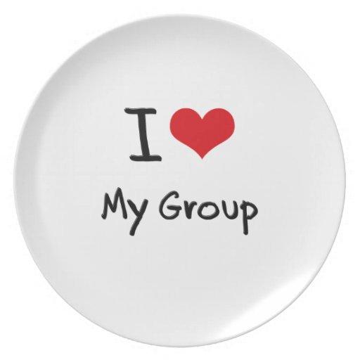 Amo a mi grupo plato para fiesta