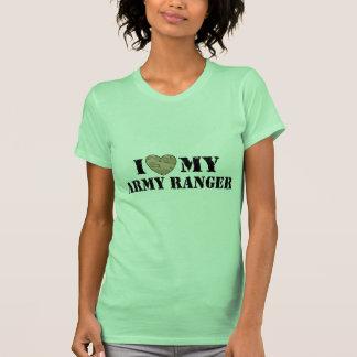 Amo a mi guardabosques del ejército camisas