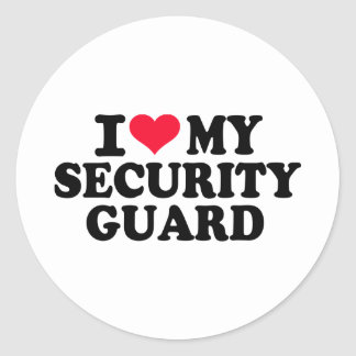Amo a mi guardia de seguridad pegatinas redondas