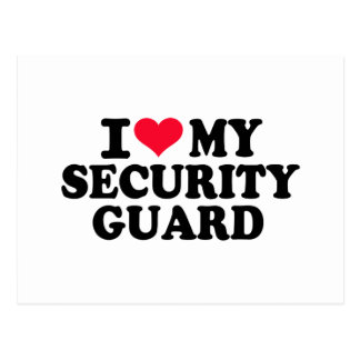 Amo a mi guardia de seguridad tarjeta postal