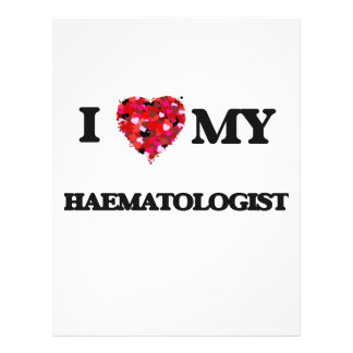 """Amo a mi hematólogo folleto 8.5"""" x 11"""""""