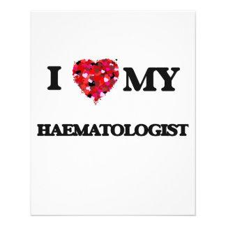 """Amo a mi hematólogo folleto 4.5"""" x 5.6"""""""