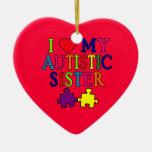 Amo a mi hermana autística adornos