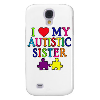 Amo a mi hermana autística funda para galaxy s4