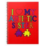 Amo a mi hermana autística libreta espiral