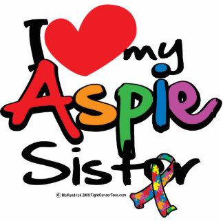 Amo a mi hermana de Aspie Fotoescultura Vertical