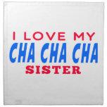 Amo a mi hermana de la danza del cha del cha de Ch Servilleta De Papel