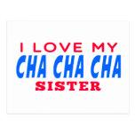 Amo a mi hermana de la danza del cha del cha de Ch Tarjetas Postales
