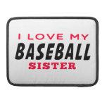 Amo a mi hermana del béisbol funda para macbook pro
