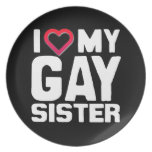 AMO A MI HERMANA GAY - - .PNG PLATO PARA FIESTA