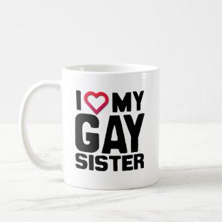 AMO A MI HERMANA GAY - .PNG TAZA CLÁSICA