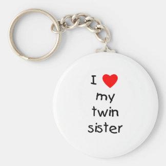 Amo a mi hermana gemela llavero