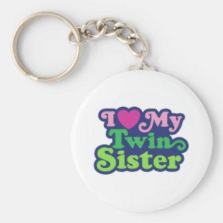 Amo a mi hermana gemela llaveros personalizados