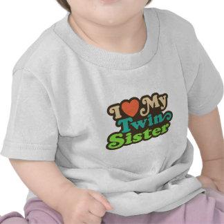 Amo a mi hermana gemela camisetas