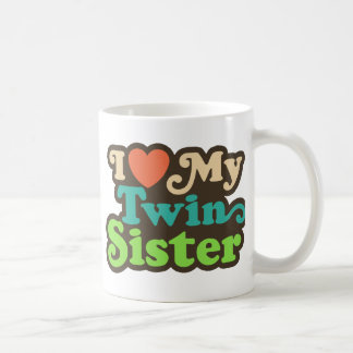Amo a mi hermana gemela taza clásica