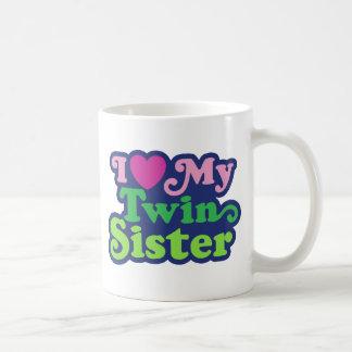 Amo a mi hermana gemela tazas