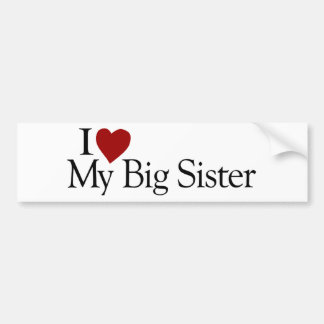 Amo a mi hermana grande pegatina para auto