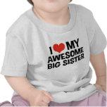 Amo a mi hermana grande impresionante camiseta