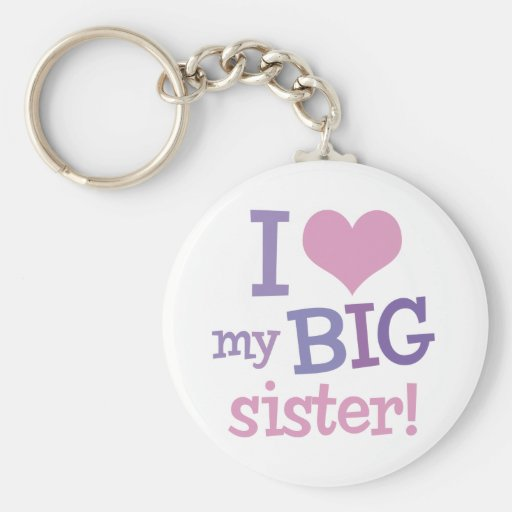 Amo a mi hermana grande llavero personalizado