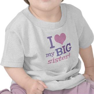 Amo a mi hermana grande camisetas