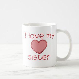 Amo a mi hermana taza clásica