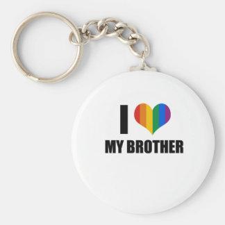 Amo a mi hermano gay llavero personalizado