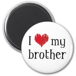 Amo a mi hermano imán redondo 5 cm