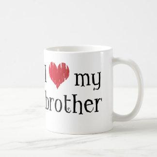 Amo a mi hermano taza