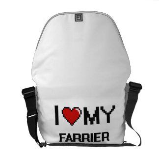 Amo a mi herrador bolsas de mensajeria