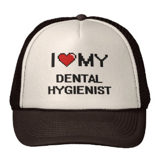 Amo a mi higienista dental gorra