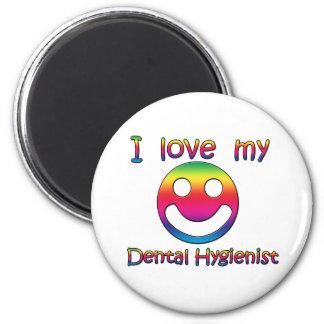 Amo a mi higienista dental imán redondo 5 cm