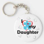 Amo a mi hija - autismo llavero