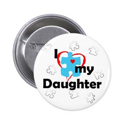 Amo a mi hija - autismo pins